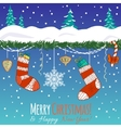 Greeting card with Christmas decoration gifts