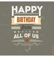 Happy Birthday typography vintage poster grunge