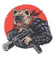 heyna gangster vector image vector image