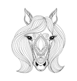 Horse Coloring page with zentangled Horse vector image vector image
