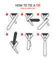 How to tie a tie instructions vector image vector image