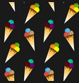 ice cream pattern seamless pattern vector image