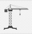 icon of the tower crane on vector image