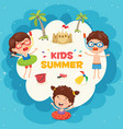ilustration of summer kids vector image vector image