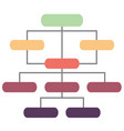 info graphic and organizational structure vector image