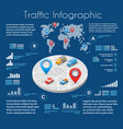 infographics of urban road vector image vector image
