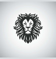lion head mascot logo icon vector image
