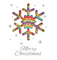 merry christmas greeting card design vector image vector image