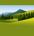 Mountain landscape vector image vector image