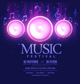 music festival flyer template with speaker and vector image