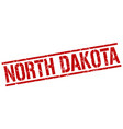north dakota red square stamp vector image vector image
