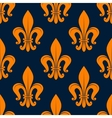 Orange fleur-de-lis floral seamless background vector image vector image