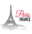 paris france hand sketched vector image
