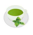 peppermint tea vector image