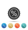 percent symbol discount icon on white background vector image vector image