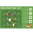 Pizza For You infographics Flat concept web vector image vector image