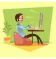 Programmer Working vector image vector image