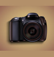 realistic photo camera professional photo studio vector image vector image