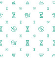 sand icons pattern seamless white background vector image vector image