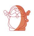 Santa claus cartoon character merry christmas