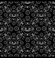 seamless pattern with abstract black and vector image vector image