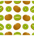 seamless pattern with cartoon kiwi isolated vector image vector image