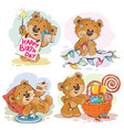 set of clip art of brown vector image vector image