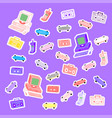 sets 80s stickers vector image vector image