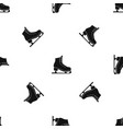 skates pattern seamless black vector image vector image
