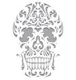 Skull in art nouveau style