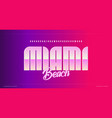 sleek modern alphabet miami stunning font vector image