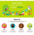 Spring Garden Flat Web Design Template vector image vector image
