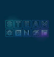 steam colored outline on dark vector image