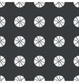 Straight black basketball pattern vector image vector image