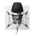 studio microphone icon vector image