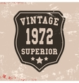 Superior vintage stamp vector image vector image