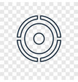 target concept linear icon isolated on vector image