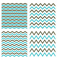tile seamless pattern set with blue and black zigs vector image