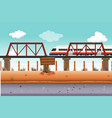 train to rural area vector image