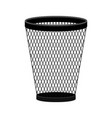 trash can icon in modern flat style vector image vector image