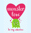 valentines day card with heart cute vector image vector image