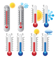 weather thermometer set vector image vector image