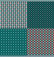 winter snowflake geometric patterns vector image vector image