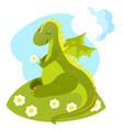 little romantic dragon vector image