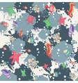 Seamless abstract pattern marine life vector image