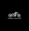 motorbike logotype theme vector image