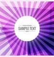 abstract funky purple background with rays coming vector image vector image