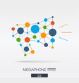 abstract social media market background network vector image