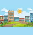 an urban city scene vector image vector image