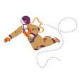 astronaut floating in space cosmonaut in costume vector image